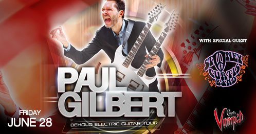 Stoney Curtis Band with Paul Gilbert live at Count's Vamp'd, Friday, June 28th